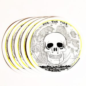 """Ride the Tide"" 4"" Sticker"