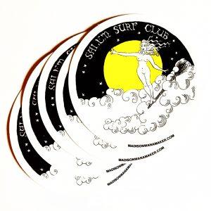 """Salem Surf Club"" 4"" Sticker"