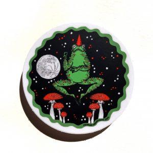 """Toad Wizard 3"""" Sticker"""