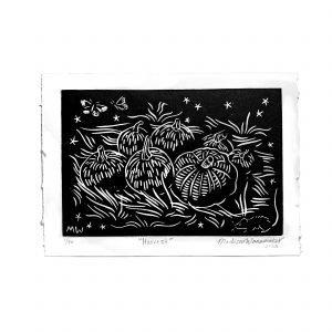 "Harvest 5×7"" Lino Print"