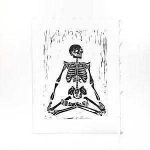 Feelings Linoleum Block Print