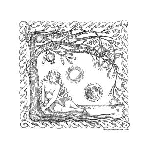 The Goddess of Spring Digital Fine Art Print